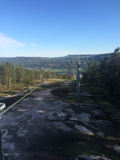 The view from the top of the ski lift