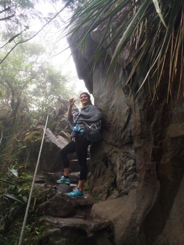 Hiking up Huanya Picchu