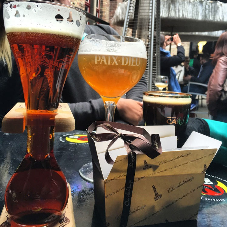 Craft Belgium Beer on our day trip to Bruges