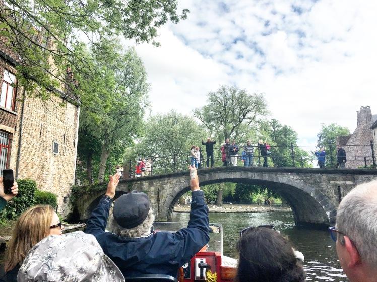 Boat tour of Bruges, Belgium