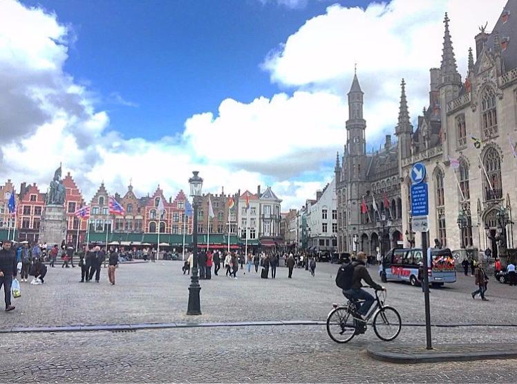 Marketplace in Bruges, Belgium