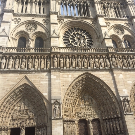 notre dame cathedral in Paris gorgeous