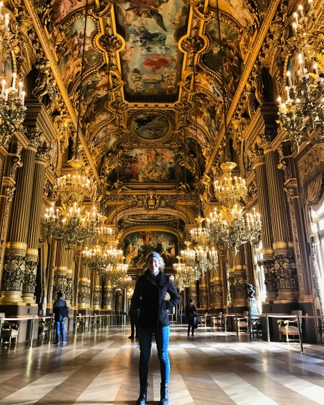 Paris Opera House Gold Ceilings Chandeliers