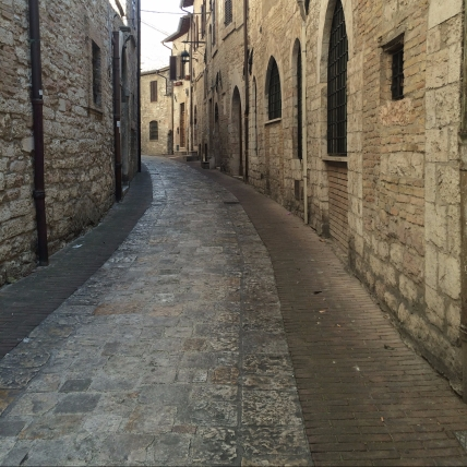 Winding Streets of Assisi, Italy