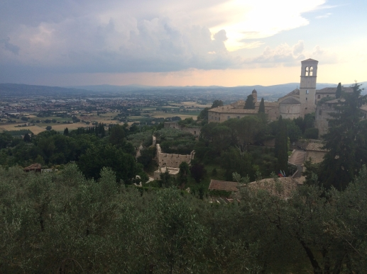 Sunset in Assisi, Italy