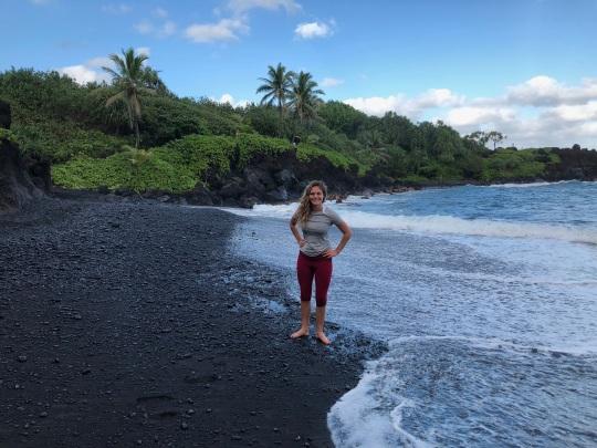 Black Sand Beach Hana Maui